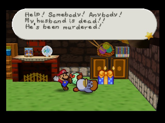Paper Mario - Cut-Scene  - She is crazy - User Screenshot